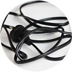 cordon électrique emmêlé